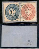 ANTICHI STATI ITALIANI - LOMBARDO VENETO - LEVANTE AUSTRIACO - In Den Dardanellen (azzurro - P.ti 12) - 10 Soldi (44) +  - Non Classés