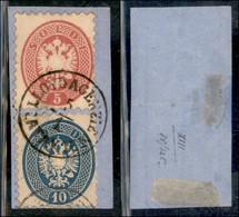 ANTICHI STATI ITALIANI - LOMBARDO VENETO - LEVANTE AUSTRIACO - Lloyd Agenzie Latakien (P.ti 13) - 5 Soldi (43) + 10 Sold - Non Classés