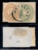 ANTICHI STATI ITALIANI - LOMBARDO VENETO - LEVANTE AUSTRIACO - Metilene (azzurro - P.ti 9) - 15 Soldi (45) + 3 Soldi (43 - Non Classés