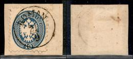 ANTICHI STATI ITALIANI - LOMBARDO VENETO - LEVANTE AUSTRIACO - Roman (P.ti R) - 10 Soldi (44) Usato Su Frammento - Cert. - Non Classés