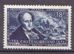 N° 816 Centenaire De La Mort Du Vicomte De Chateaubriand:  Un Timbre Neuf Sans Charnière - Unused Stamps