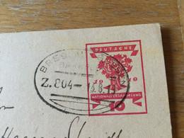 K12 Deutsches Reich Ganzsache Stationery Entier Postal P 115 Bahnpost Breslau - Gnesen - Ganzsachen