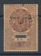 """Timbre Fiscal - Dimension Surchargé """"tarif Porté à 2fr"""" - Used Stamps"""