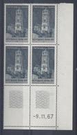 RODEZ N° 1504 - Bloc De 4 COIN DATE - NEUF SANS CHARNIERE - 9/11/67  2 Traits - 1960-1969