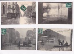 CP 92 LEVALLOIS PERRET Crue De Janvier 1910 Lot De 4 Cartes - Levallois Perret