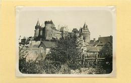 VITRE (ile Et Vilaine) - Le Château, Vue Générale (photo Années 30, Format 10,3cm X 7,6cm) - Places