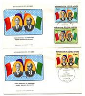 RC 19304 COTE D'IVOIRE N° 441 / 443 VISITE DU PRÉSIDENT VALÉRY GISCARD D'ESTAING 1978 FDC 1er JOUR - TB - Ivoorkust (1960-...)