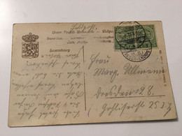 Luxembourg Carte Feldpost 1913 - Errors & Oddities