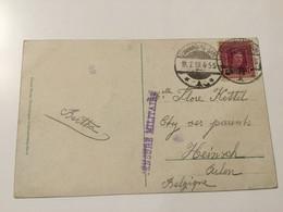 Luxembourg Carte 1919 Avec Censure Militaire - Errors & Oddities