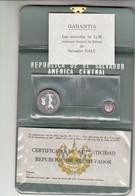 El Salvador, 5+1 Colones Argento In Confezione A Firma Salvator Dalì 1971 - El Salvador