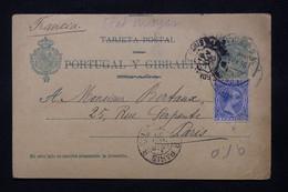 ESPAGNE - Entier Postal + Complément Pour La France En 1895  - L 78382 - 1850-1931