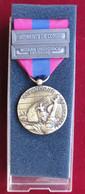 Médaille Armée Nation Défense Nationale Republique France,  + 2 Barrettes - Francia