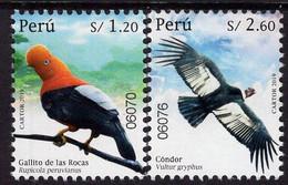 Peru - 2019 - Fauna - Birds - Parrot And Condor - Mint Stamp Set - Peru
