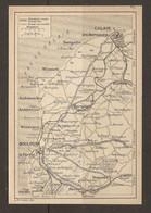 CARTE PLAN 1920 - ROUTES CALAIS SANGATTE WISSANT BOULOGNE DESVRES WIMEREUX GUINES MARQUISE SAMER - Topographische Kaarten