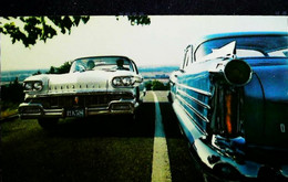 ► OLDSMOBILE 1958  - BEEBE Garage HOLLY Michigan  - Automobile Publicity  (Litho. U.S.A.) - Roadside - Rutas Americanas