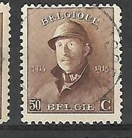 OCB Nr 174 King Roi Koning Albert I - Centrale Stempel Brussel - 1919-1920 Trench Helmet