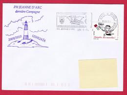 4450 Marine, PH Jeanne D'Arc, Campagne 2009-2010, Escale à Ushuaïa, Argentine, Oblit. Mécanique JDA, 25-01-2010, Chouett - Posta Marittima