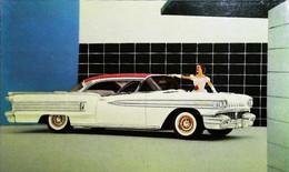 ► OLDSMOBILE 88 Holiday Coupe 1957  - BEEBE Garage HOLLY Michigan  - Automobile Publicity  (Litho. U.S.A.) - Roadside - Rutas Americanas