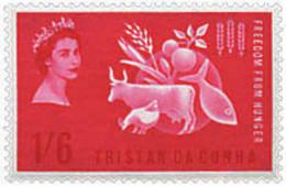 Ref. 372517 * HINGED *  - TRISTAN DA CUNHA . 1963. WORLD CAMPAIGN AGAINST HUNGER. CAMPA�A MUNDIAL CONTRA EL HAMBRE - Tristan Da Cunha