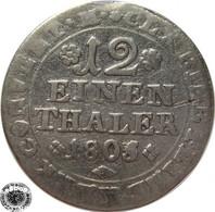 LaZooRo: Germany BRUNSWICK-WOLFENBÜTTEL 1/12 Thaler 1805 MC F - Silver - Small Coins & Other Subdivisions