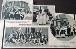 "HOOGSTRATEN..1933..H. BLOEDPROCESSIE / KAJOTTERS MET HET KRUIS / TURNKRING "" VREUGD EN DEUGD "" - Non Classificati"