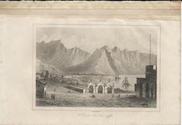 CANARIES S.TE CROIX DE TENERIFFE 1835 INCISIONE DI LEMAITRE ENGRAVING GRAVURE - Stiche & Gravuren