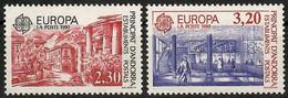 Andorra (Französische Post)1990  Mi.Nr. 409 / 410 , EUROPA CEPT Postalische Einrichtungen - Postfrisch / MNH / (**) - 1990
