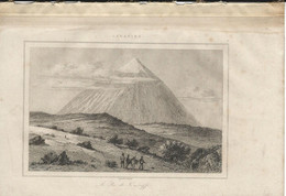 CANARIES LE PIC DE TENERIFFE 1835 INCISIONE DI LEMAITRE ENGRAVING GRAVURE - Stiche & Gravuren