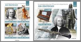 TOGO 2020 MNH Johann Sebastian Bach Composer Komponist Compositeur M/S+S/S - OFFICIAL ISSUE - DHQ2047 - Music