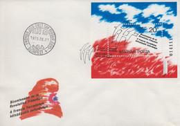 Enveloppe  FDC  1er  Jour   HONGRIE   Bloc  Feuillet   Bicentenaire  De  La   Révolution  Française    1989 - Franz. Revolution
