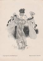 Menu Illustré Signé Felix Fournery - 1906 - Copyright By Aine-Montaillé  - Elégante Parisienne - Scan Recto-verso - Menus