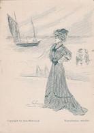 """Menu Illustré Signé Felix Fournery -  """"Trouville """"- Copyright By Aine-Montaillé  - Elégante - Scan Recto-verso - Menus"""