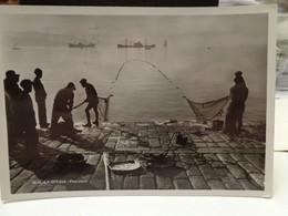 Cartolina  Pescatori La Spezia Anni 40  Reti - La Spezia