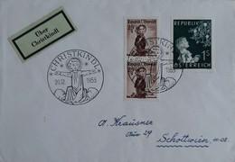 N° 827       Noël 1953  -  Oblitéré à Christkindl ( Enfant De Noël) Du 20.12.1953 - 1945-60 Cartas