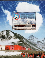 Peru - 2019 - 30 Years Of Peruvian Antarctic Station Machu Picchu - Mint Souvenir Sheet - Perú