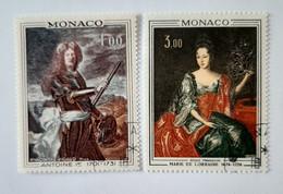 N° 874 Et 875       Antoine 1er  -  Marie De Lorraine - Used Stamps
