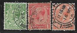 GB  1913 KGV DEFINITIVES TRIO - Ohne Zuordnung