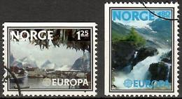 Norwegen/ Norge 1977 Mi.Nr. 742 Do + 743 DI , EUROPA CEPT Landschaften / Countryside - Gestempelt / Fine Used / (o) - 1977