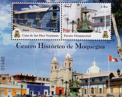 Peru - 2019 - Moquegua Historical Centre - Mint Souvenir Sheet - Perú