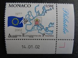 MONACO 2002 Y&T N° 2346 ** - 25e ANNIV. DE L'ACADEMIE EUROPEENNE DE PHILATELIE - Nuovi