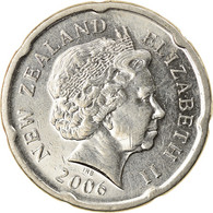 Monnaie, Nouvelle-Zélande, Elizabeth II, 20 Cents, 2006, TTB, Nickel Plated - New Zealand