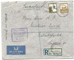 193 - 59 -  Lettre Recommandée Envoyée De Haifa En Suisse 1940 - Censure - Palestina