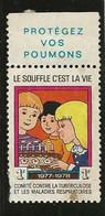 France Vignette Campagne Tuberculose 77/78 - Antitubercolosi