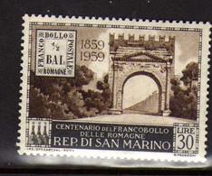 Saint-Marin (1959) - Centenaire Du Timbre De Romagne -     Neufs** - Nuevos