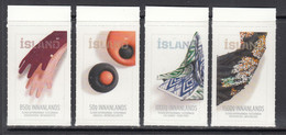 2017 Iceland Textile Art Fashion  Complete Set Of 4 MNH @ BELOW FACE VALUE - Nuovi