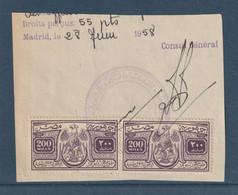 Egypt - 1956 - Rare Revenue - Consular - The Republican Eagle Issue - 200 M - Usados