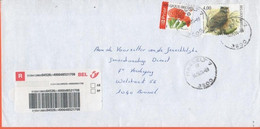 BELGIO - BELGIE - BELGIQUE - 2004 - Hibou Grand-Duc, Bird + Prior Flower - Registered - Viaggiata Da Hasselt Per Bruxell - Briefe U. Dokumente
