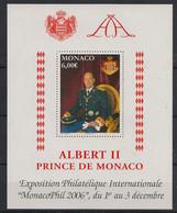 Monaco - 2006 - Bloc Feuillet BF N°Yv. 92 - Albert II - Neuf Luxe ** / MNH / Postfrisch - Bloques