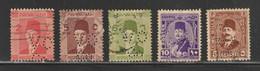 Egypt - 1927-44 - RARE - Perfin. - ( King Farouk - King Fouad ) - Usados