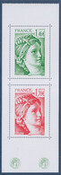 "Issus Du Carnet ""40 Ans De La Sabine De Gandon"" Rouge 1.70€ Et Vert 1.46€ Grand Format Neuf 5185 5186 - 1977-81 Sabine Van Gandon"
